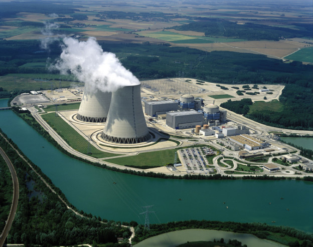 07/00/1997. The nuclear in Normandy seen from the sky